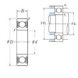 110 mm x 150 mm x 20 mm  NSK 6922VV deep groove ball bearings