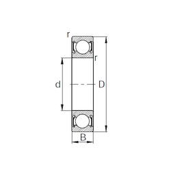 100 mm x 180 mm x 34 mm  CYSD 6220-2RS deep groove ball bearings