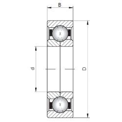 Loyal QJ220 angular contact ball bearings
