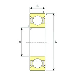 100 mm x 180 mm x 34 mm  ISB 6220-ZZ deep groove ball bearings