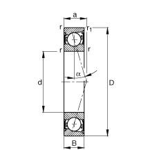 110 mm x 150 mm x 20 mm  FAG B71922-C-2RSD-T-P4S angular contact ball bearings
