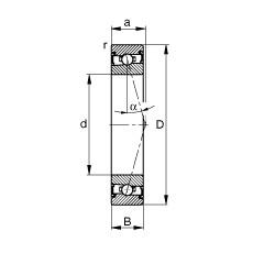 110 mm x 150 mm x 20 mm  FAG HSS71922-C-T-P4S angular contact ball bearings