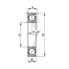 110 mm x 150 mm x 20 mm  FAG B71922-C-T-P4S angular contact ball bearings