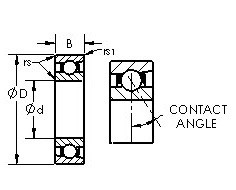 AST 71922C angular contact ball bearings