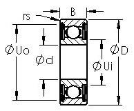 AST 6220ZZ deep groove ball bearings