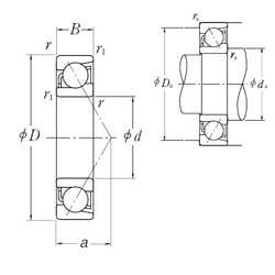 110 mm x 150 mm x 20 mm  NSK 7922 C angular contact ball bearings