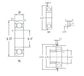 100 mm x 180 mm x 34 mm  KOYO 6220NR deep groove ball bearings