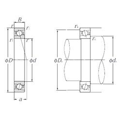 110 mm x 150 mm x 20 mm  NTN 5S-HSB922C angular contact ball bearings