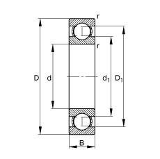 55 mm x 72 mm x 9 mm  FAG 61811-Y deep groove ball bearings