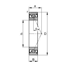 110 mm x 150 mm x 20 mm  FAG HCS71922-E-T-P4S angular contact ball bearings