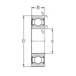 100 mm x 180 mm x 34 mm  NKE 6220-2Z deep groove ball bearings