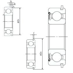 55 mm x 72 mm x 9 mm  NACHI 6811ZNR deep groove ball bearings