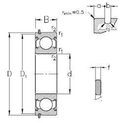 100 mm x 180 mm x 34 mm  NKE 6220-2Z-NR deep groove ball bearings