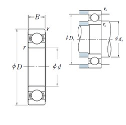 100 mm x 180 mm x 34 mm  NSK 6220 deep groove ball bearings