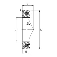 110 mm x 150 mm x 20 mm  FAG HC71922-E-T-P4S angular contact ball bearings