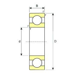 55 mm x 72 mm x 9 mm  ISB SS 61811 deep groove ball bearings