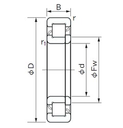105 mm x 260 mm x 60 mm  NACHI NUP 421 cylindrical roller bearings