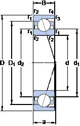 90 mm x 140 mm x 24 mm  SKF 7018 CD/HCP4A angular contact ball bearings