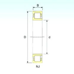 100 mm x 180 mm x 34 mm  ISB NJ 220 cylindrical roller bearings