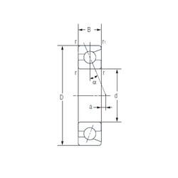 100 mm x 180 mm x 34 mm  NACHI 7220AC angular contact ball bearings