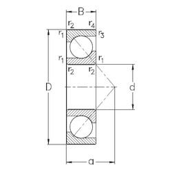 100 mm x 180 mm x 34 mm  NKE 7220-BE-MP angular contact ball bearings