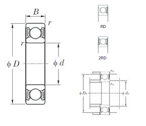55 mm x 72 mm x 9 mm  KOYO 6811-2RD deep groove ball bearings