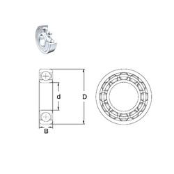 55 mm x 72 mm x 9 mm  ZEN 61811-2Z deep groove ball bearings