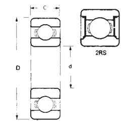 55 mm x 72 mm x 9 mm  FBJ 6811-2RS deep groove ball bearings