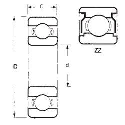 55 mm x 72 mm x 9 mm  FBJ 6811ZZ deep groove ball bearings