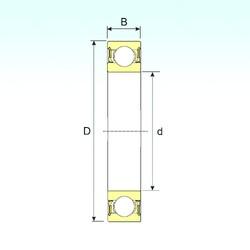 55 mm x 72 mm x 9 mm  ISB 61811-2RZ deep groove ball bearings