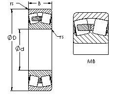 AST 23238MB spherical roller bearings