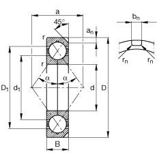 100 mm x 180 mm x 34 mm  FAG QJ220-N2-MPA angular contact ball bearings