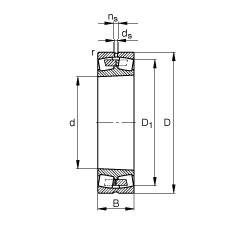 140 mm x 225 mm x 68 mm  FAG 23128-E1A-K-M spherical roller bearings
