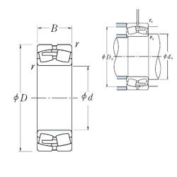 340 mm x 580 mm x 190 mm  NSK 23168CAE4 spherical roller bearings