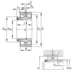 260 mm x 440 mm x 144 mm  FAG 23152-K-MB spherical roller bearings