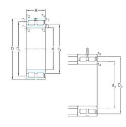 240 mm x 320 mm x 80 mm  SKF NNCF4948CV cylindrical roller bearings