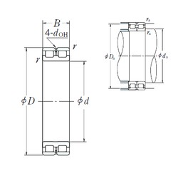 240 mm x 320 mm x 80 mm  NSK RSF-4948E4 cylindrical roller bearings