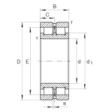 240 mm x 320 mm x 80 mm  INA SL024948 cylindrical roller bearings