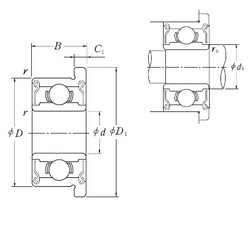5 mm x 13 mm x 4 mm  ISO F695ZZ deep groove ball bearings