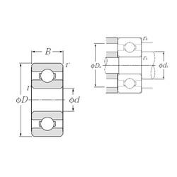 5 mm x 13 mm x 4 mm  NTN 695 deep groove ball bearings