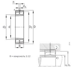190 mm x 340 mm x 120 mm  FAG 23238-B-K-MB spherical roller bearings