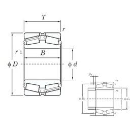 260 mm x 440 mm x 144 mm  KOYO 45352 tapered roller bearings