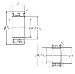 240 mm x 320 mm x 80 mm  KOYO NNU4948 cylindrical roller bearings
