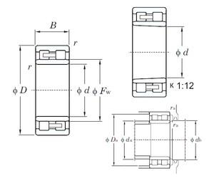 240 mm x 320 mm x 80 mm  KOYO NNU4948K cylindrical roller bearings