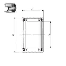 IKO TLA 4520 UU needle roller bearings
