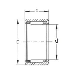 FBJ HK4520 needle roller bearings