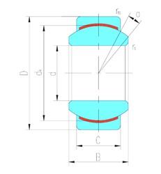 45 mm x 68 mm x 32 mm  LS GE45C plain bearings