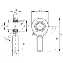 45 mm x 68 mm x 32 mm  INA GAR 45 DO-2RS plain bearings
