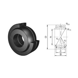 45 mm x 68 mm x 32 mm  ZEN GE45ES-2RS plain bearings