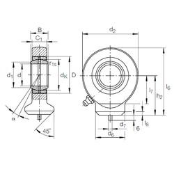 45 mm x 68 mm x 32 mm  INA GK 45 DO plain bearings